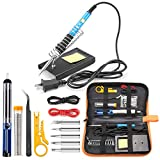 Tabiger Soldering Iron Kit 15-in-1, 60W Soldering Iron with Adjustable...