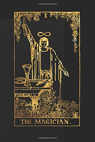 The Magician: 120 blank pages, The Magician Tarot Card...