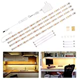 Wobane Under Cabinet Lighting Kit,Flexible LED Strip Lights Bar,Under Counter Lights for Kitchen,Cupboard,Desk,Monitor Back,Shelf,6.6 Feet Tape Light Set,ETL Listed,120 LEDs,1100lm,2700K WarmWhite