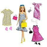 Barbie Fashionistas Coffret poupée blonde et ses tenues, vêtements et...