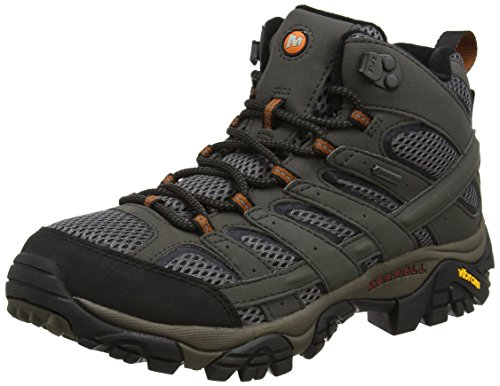 Merrell Men's Moab 2 Mid GTX High Rise Hiking Boots, Beluga, 11.5 M US