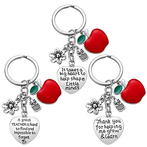 Teacher Appreciation Gift for Women, 3pcs Heart Pendant...