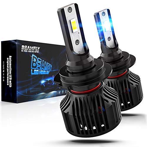 Lampade H7 LED 12000LM, BEAMFLY Lampadine Fari Auto 80W 12V 6000K Bianco