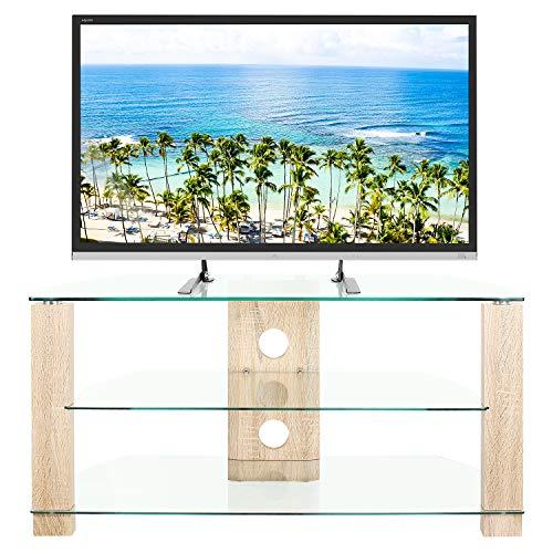 RFIVER Mobili Porta TV Angolare Supporto per TV Hifi a Schermo Piatto a LED LCD OLED e Plasma a 50...