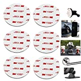 80mm(3.15') Circular Double Sided Sticky Pads 6Pcs Strong Adhesive Pad for Car Mount Mounting Holder Windshield GPS Camera Lock Sucker Suction Cup Hook Dashboard Toys (White)