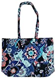 Vera Bradley Essential Tote with Solid Color Interior (Lotus Flower Swirl)