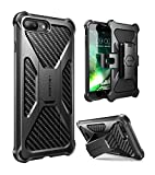 i-Blason Case for iPhone 7 Plus/ 8 Plus 2017, Transformer [Kickstand] [Heavy Duty] [Dual Layer] Combo Holster Cover case with [Locking Belt Swivel Clip] (Black)