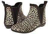 Capelli New York Ladies Leopard Print Short Rain Boot Natural Combo 8