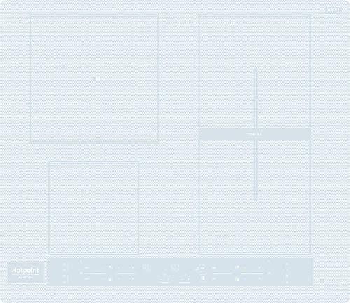 Piano cottura ad induzione da 60 cm, N 4 Fuochi, colore Bianco