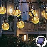 Guirlande lumineuse solaire d'extérieur 50 LED 7m 8 modes solaires,...
