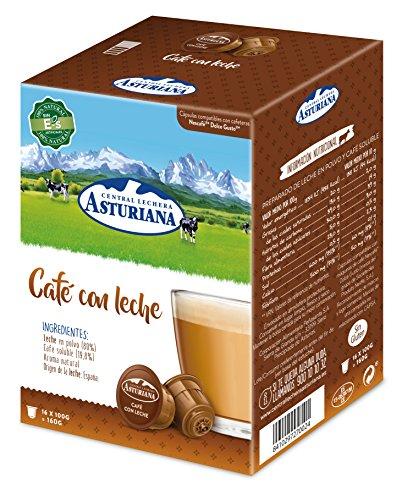Central Lechera Asturiana Cápsulas de Café con Leche, 4 x