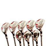"""iDrive Hybrids Senior Men's Golf All Complete Full Set, which Includes: #3, 4, 5, 6, 7, 8, 9, PW Senior Flex with Premium Men's Arthritic Grip Right Handed Utility """"A"""" Flex Clubs"""