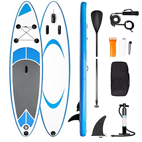 Tavola da SUP Gonfiabile Stand Up Paddle Board - Set tavola da surf con Accessori Completi, Pagaia Regolabile, Pompa, Zaino, Linea di Sicurezza305 x 76 x 15 cm