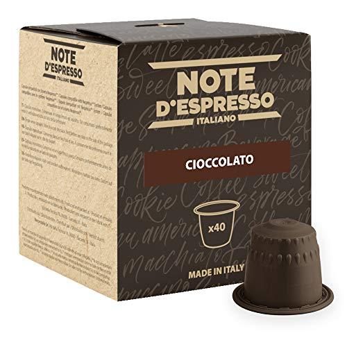 Note D'Espresso Cioccolato Preparato Solubile in Capsule per Bevanda al Gusto di Cioccolato - 280 g (40 x 7 g) Esclusivamente Compatibili con le macchine per caffè a capsule Nespresso*