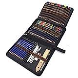 Crayons de Dessin, 72 pcs Crayon de Croquis et Crayons de Couleur -Taillés...