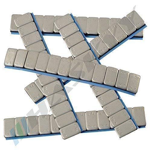 100x HASKYY Auswuchtgewichte 12x5g Klebegewichte 6KG Stahlgewichte Kleberiegel 60g mit ABRISSKANTE verzinkt & kunststoffbeschichtet