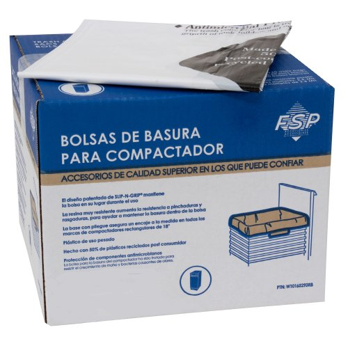 Whirlpool W10165293RB 18-Inch Plastic Compactor Bags with Odor Remover, 60-Pack