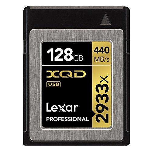 Lexar Professional 2933x XQD 2.0カード 128GB (最大読込 440MB/s、最大書込 400MB/s)国内正規品 無期限保証 LXQD128CRBJP2933