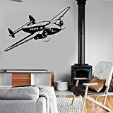 wZUN Aviones Retro de la Fuerza Aérea Jet Aircraft Pared Pegatina Vinilo decoración habitación Dormitorio ejército calcomanía 74X50cm