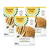 Simple Mills Almond Flour Baking Mix, Gluten Free Artisan Bread Mix, Made with whole foods, 3 Count (Packaging May Vary)