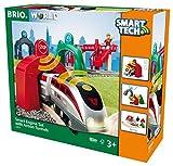BRIO World - Smart Tech - 33873 - CIRCUIT DE VOYAGEUR & LOCOMOTIVE INTELLIGENTE