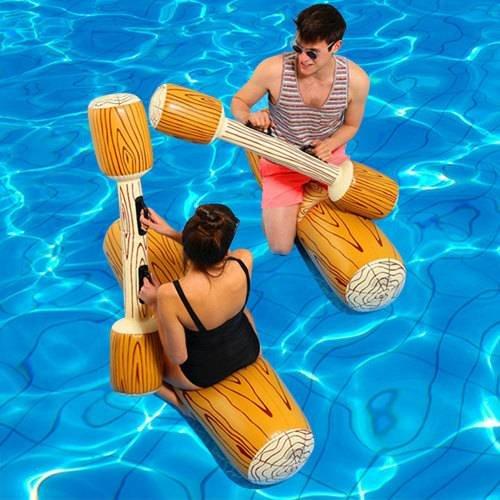 Xinke 4 Stück/Set Joust Schwimmendes Spiel für Pool, aufblasbar Wassersport, Bumper-Spielzeug für Erwachsene und Kinder, Party, Gladiator, schwimmendes Kickboard