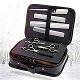 Bolsa de viaje portátil para herramientas de peluquería profesional. Funda de transporte y almacenamiento para maquina de cortar el cabello, peines y tijeras