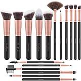 EmaxDesign Brochas de maquillaje 17 piezas Juego de brochas de maquillaje en polvo Base de maquillaje en polvo ...