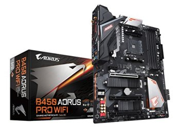 GIGABYTE B450 AORUS PRO WIFI (AMD Ryzen AM4/ATX/M.2 Thermal Guard with Onboard WIFI/HDMI/DVI/USB 3.1 Gen 2/DDR4/Motherboard)
