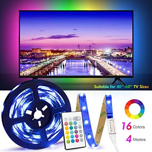 Retroilluminazione TV LED ad USB di Lunghezza 2.4M Adatto per HDTV da 40-65 Pollici, 24 Tasti...
