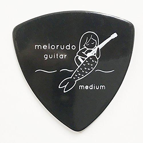 【melorudo(メロルド)】 デザインギターピック guitar pick トライアングル(おにぎり型) triangle エレキギター/アコースティックギター/クラシックギター/ベース等の練習に最適な大量セット ブラック M(ミディアム medium)100枚セット ma100001b10n0