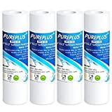PUREPLUS 5 Micron 10' x 2.5' Whole House Sediment Home Water Filter Cartridge Replacement for Any 10 inch RO Unit, Culligan P5, Aqua-Pure AP110, Dupont WFPFC5002, CFS110, WHKF-GD05, PP10-05, 4Pack