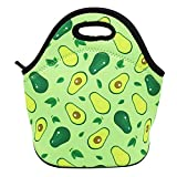 Avacado Neoprene Lunch Bag Insulated Lunch Box Tote for Kids Teens Boys Teenage Girls Toddlers Women Men Adult