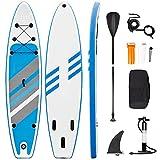 Tabla de Paddle Surf Hinchable Sup Inflatable Stand up Paddle Board PVC con Bomba de Doble, Remo...