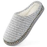 RockDove Women's Birch Sweater Knit Memory Foam Slipper, Size 9-10 US Women, Dove White