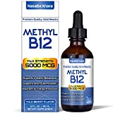NASA Beahava Vitamin B12 Liquid Drops - 5000 MCG Supplement with Methylcobalamin (Methyl B-12) Max Absorption B 12 to Increase Energy & Metabolism - 2 fl oz