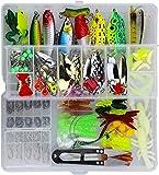 Leurres de Pêche Kit 235pcs - Spinnerbaits,Plastique vers,Minnow,Popper,Crayon...