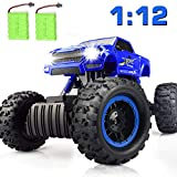 DOUBLE E Remote Control Trucks Monster RC Car 1:12 Scale Off Road Vehicle2.4Ghz Radio Remote Control Car 4WD High Speed Racing All Terrain Climbing Car Gift for Boys Girls Kids