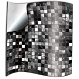 24x Autocollant en tuile pour Salle de Bain et Cuisine 15x15 cm Noir blanc mosaïque...