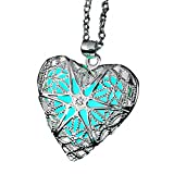 ELOI Magical Fairy Glow in The Dark Heart Locket Pendant Necklace for Teen Girl