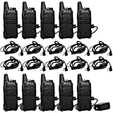 Retevis RT22 2 Way Radios Walkie Talkies,Rechargeable Long Range Two Way Radio,16 CH VOX Small Emergency 2 Pin Earpiece Headset,for School Retail Church Restaurant (Packed in Pairs with 5 Boxes)