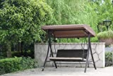 Angel Living Hollywoodschaukel Gartenschaukel Rattan 3 Sitzer - 10