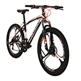 Outroad Mountain Bike 26in 21 Speed 3 Spoke Commuter Bicycle (Orange)