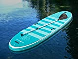 Pro 6, P6-Yoga, ISUP - Inflatable Stand-Up Paddle Board 10'6'x35'x6' Light Teal-Teal