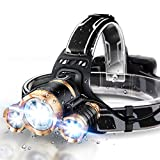 JLANG Headlamp. LED Headlamp Flashlight USB Rechargeable. IPX4...