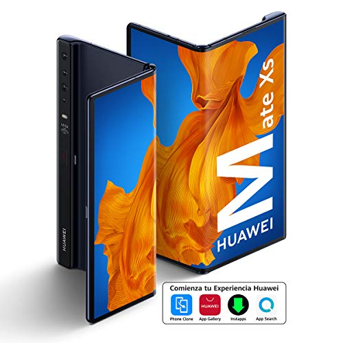 "HUAWEI Mate Xs - Smartphone 5G, pantalla plegable de 8"" (Smart Multi-Window, Kirin 990 5G, EMUI10.0, 8 GB RAM + 512 GB ROM, Cámara cuádruple Leica de 40 MP, 55W Huawei SuperCharge) Azul interestelar"