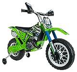 INJUSA6775 Motocross Kawasaki à Batterie 6V pour Enfants de 3Ans avec...