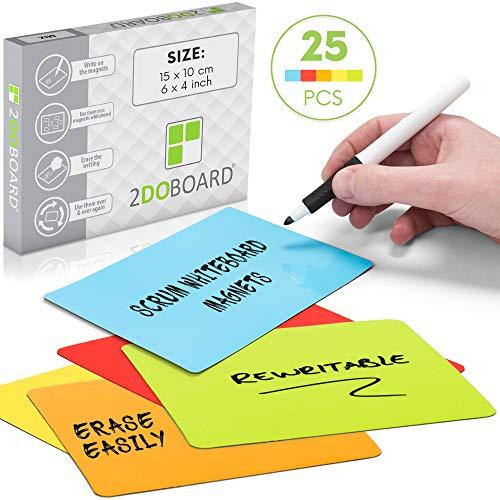 Carte magneti riscrivibili - 15 x 10 cm (Mix (5 colori))