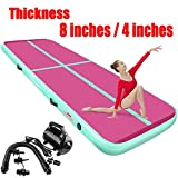 FBSPORT 4 inches Thickness airtrack mat, 9.84ft Tumble Track air mat for Gymnastics Training/Home Use/Cheerleading/Yoga/Water with Electric Pump