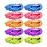 Microfiber Slippers Floor Cleaning Mop Men and Women House Dusting Slippers Floor Cleaning Tool (Multicolored)
